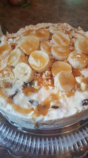 Carmel Popcorn Ice Cream Cake